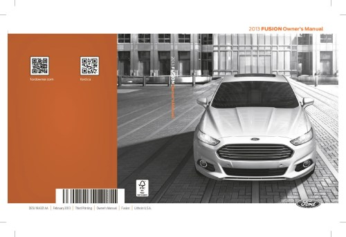 small resolution of 2013 ford fusion owner s manual