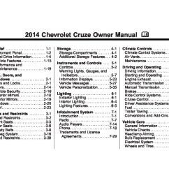 2006 Ford Escape Wiring Diagram Bell Satellite 2014 Chevrolet Cruze Owners Manual | Just Give Me The Damn
