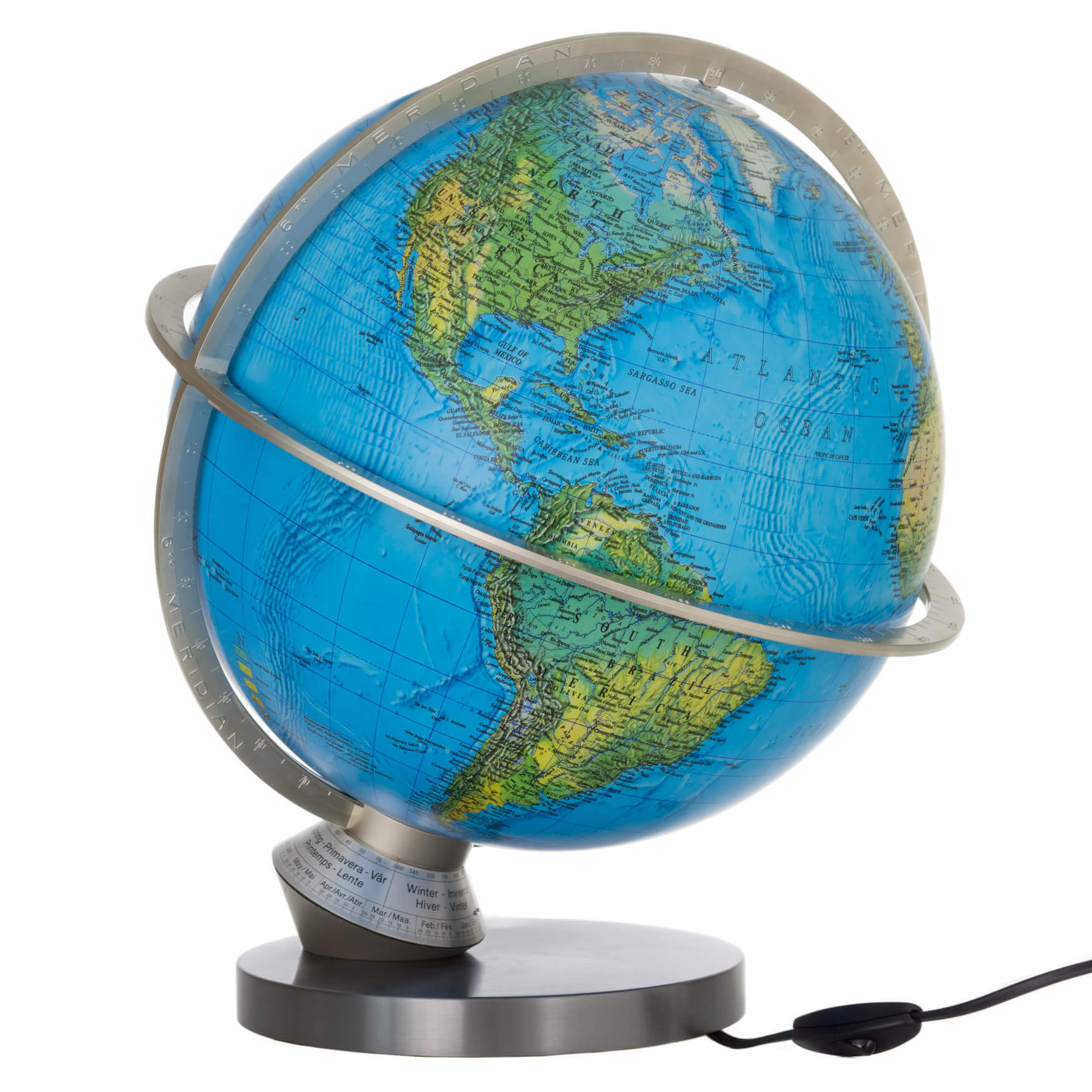 Planet Earth National Science 33cm Blue Ocean Illuminated