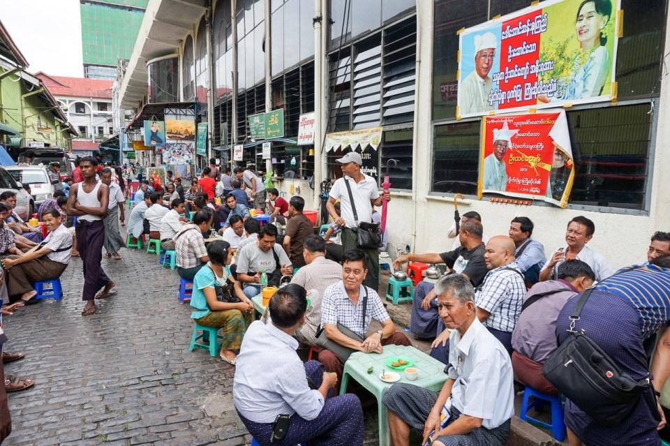 Things to do in Yangon - Myanmar Tea Houses