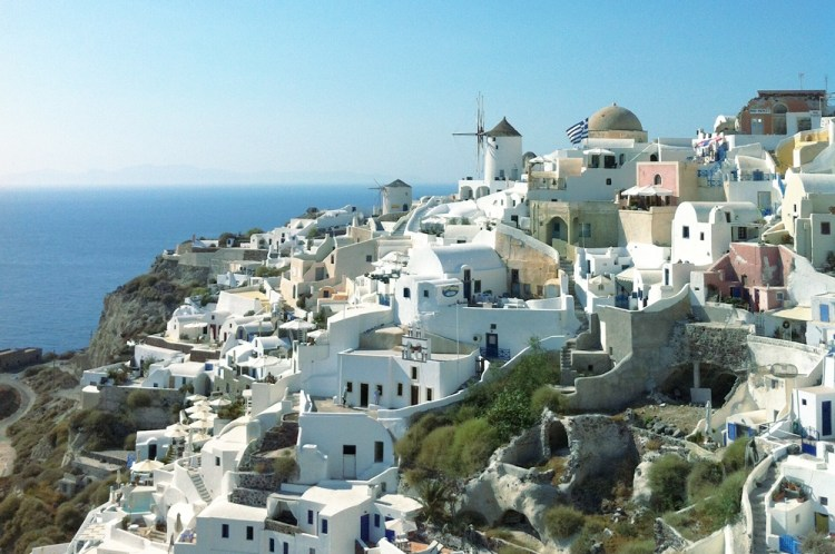 Oia a small town and former community in the South Aegean