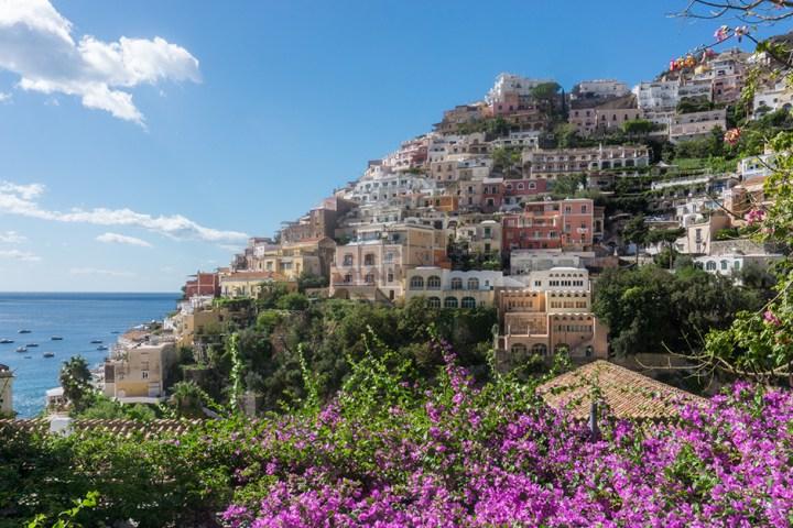 Amalfikust Positano bloemen