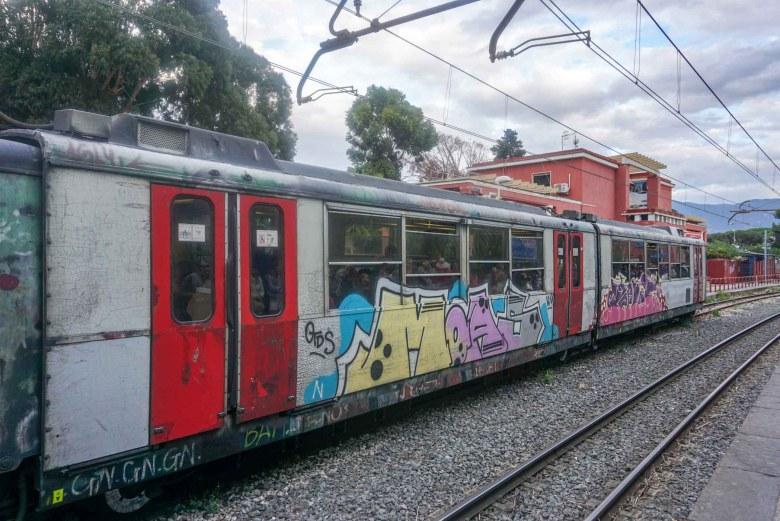 Pompeii circumvesuviana trein