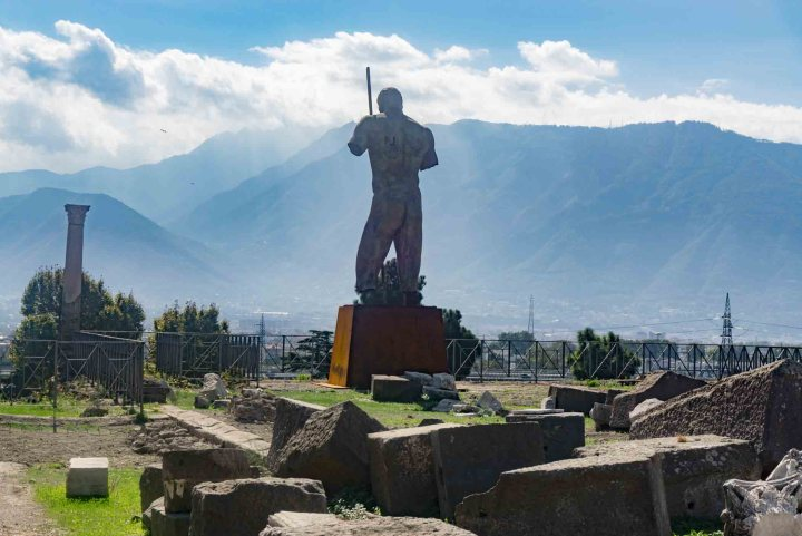 Pompeii standbeeld