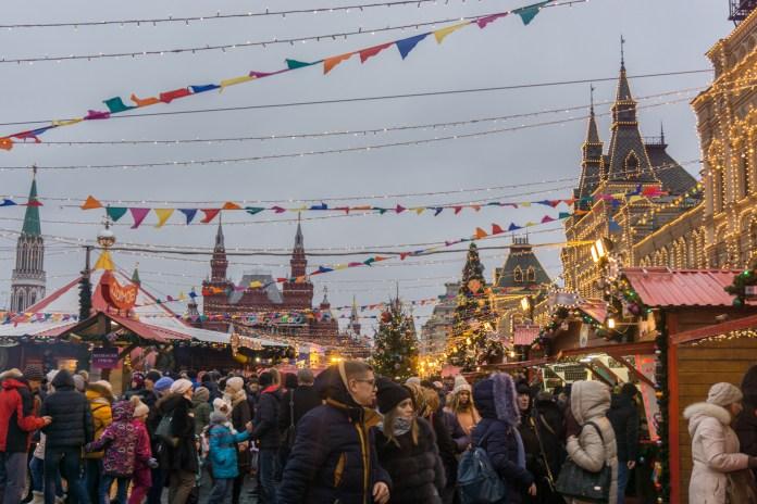 Rusland Moskou winterfestival