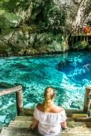 Hoyo Azul Dominicaanse Republiek trap
