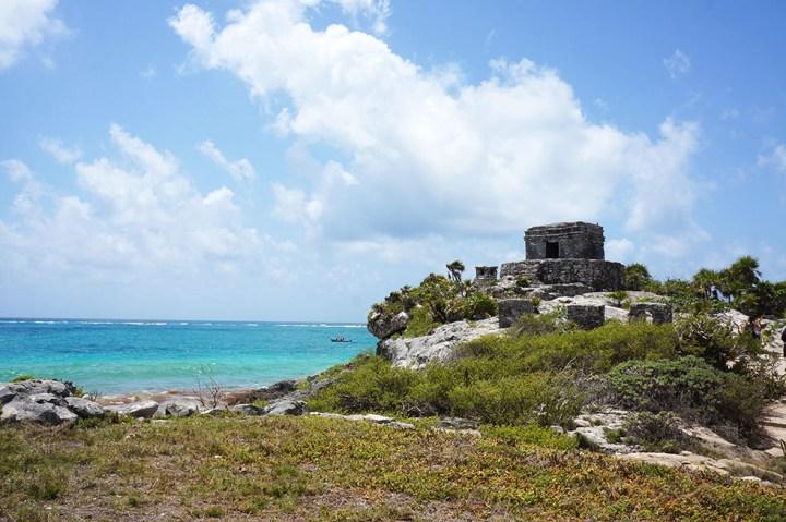 Tulum Mexico Maya overblijfselen