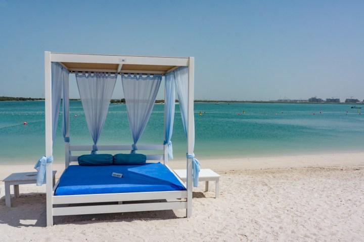 Yas Beach Abu Dhabi bed