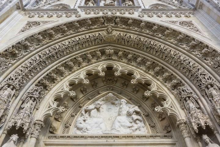 Details van de kathedraal