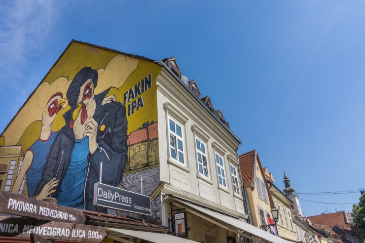 Muurschildering in Zagreb