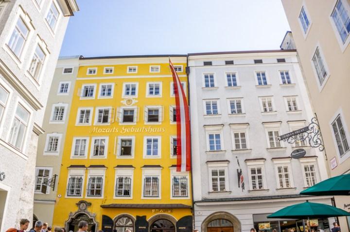 Het geboortehuis van Mozart in Salzburg