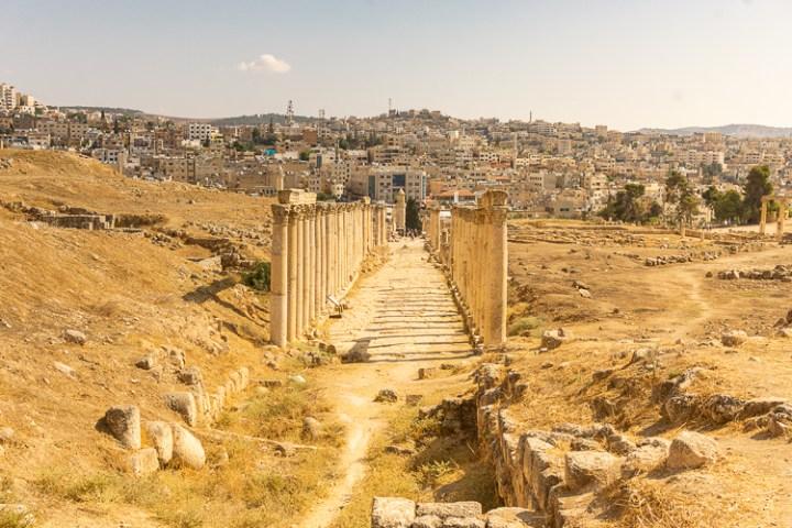 Zuilen in Jerash