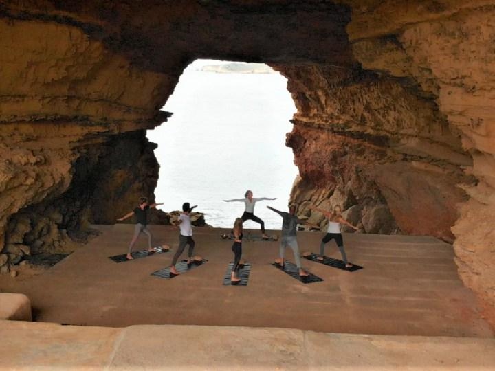 Cave yoga in Ibiza