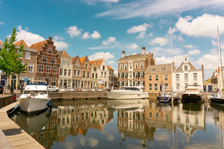 Oude haven in Goes, Zeeland