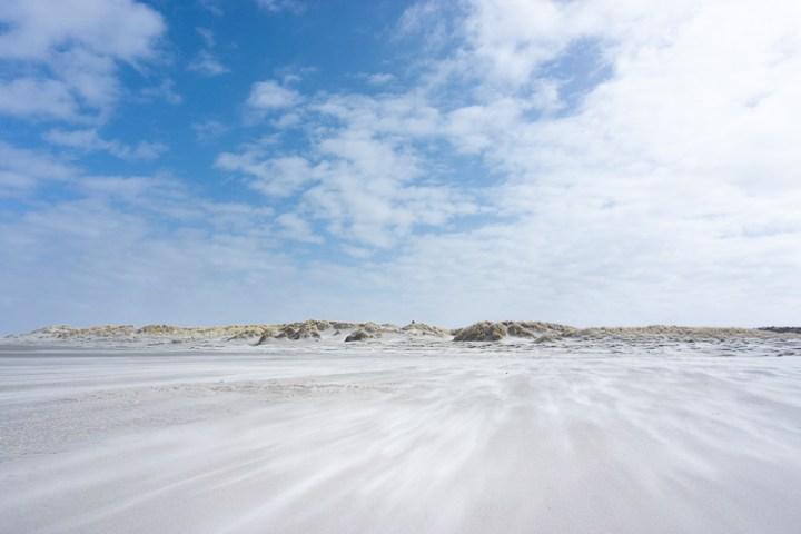 Het strand op Schiermonnikoog.