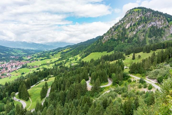 Oberjochpas op de Alpenroute