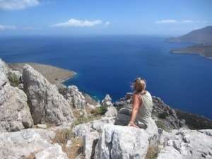 Views of the Aegean on Tilos