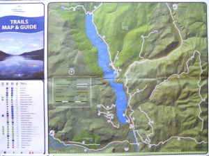 Trail Map, Christina Lake.