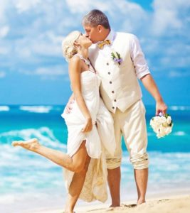 Just Honeymoons - Newly weds on the beach
