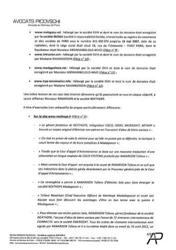 Plainte pénale de RANARISON Tsilavo au Doyen des juges d'instruction Tribunal de grande instance de Paris le 4 juillet 2017_Page_06
