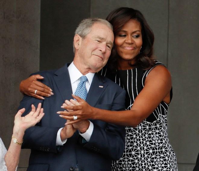 Michelle Obama, George W. Bush
