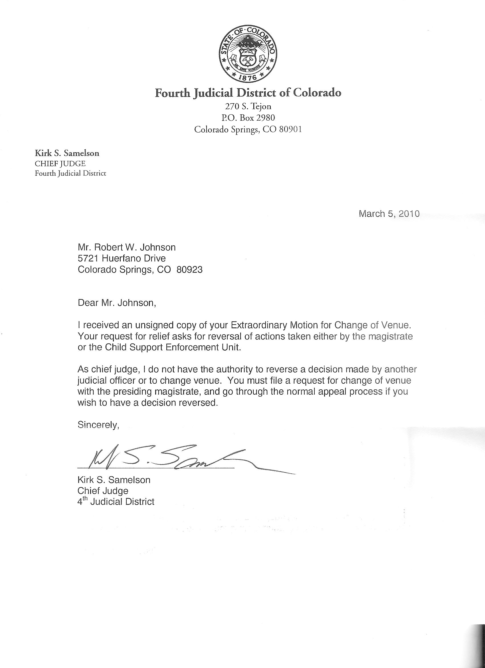 Ii El Paso County District Court Case 96 Dr