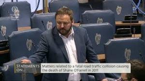 14.06.18 – Seanad – Senator Pádraig Mac Lochlainn – Statements on the Death of Shane O'Farrell