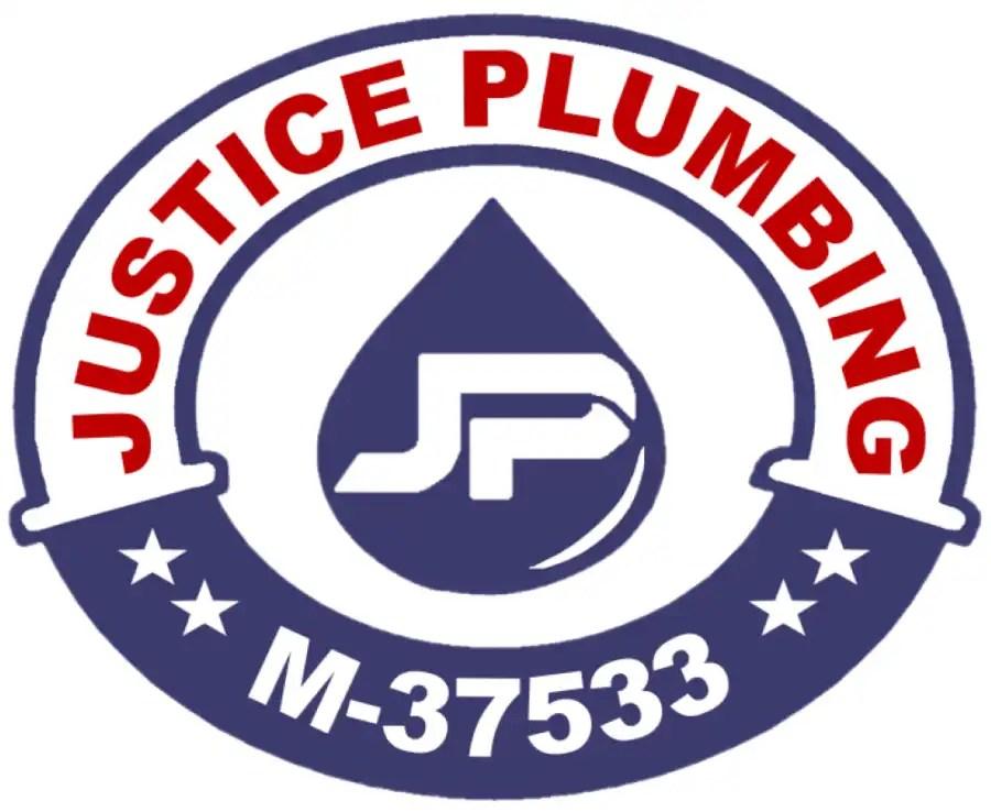 justice plumbing new logo