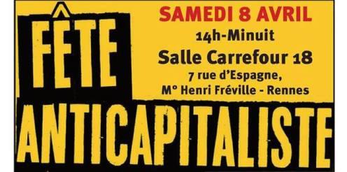 Stand au meeting du NPA, Rennes