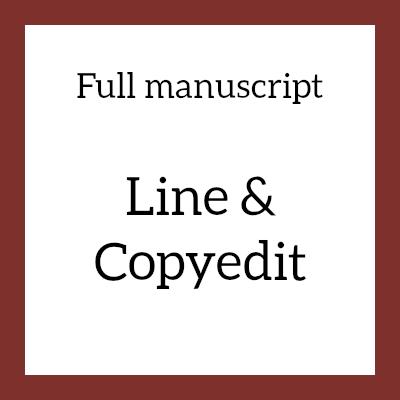 Full manuscript line and copyedit image tile