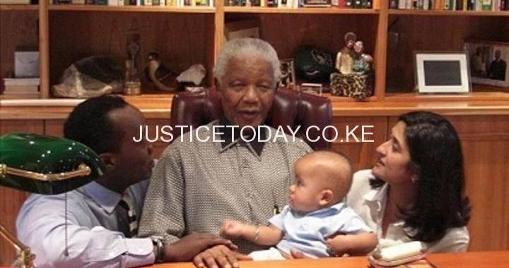 THE DAY JEFF KOINANGE'S SON MBIYU INTERACTED WITH NELSON MANDELA