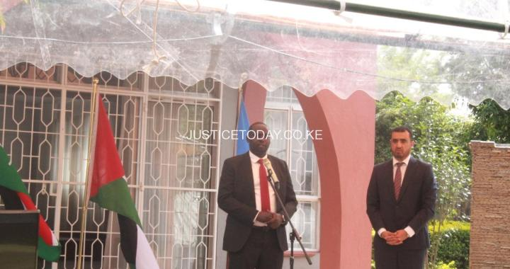 Mbagathi Girls school receives Sh 400,000 donation from Palestine Embassy to equip their lab.