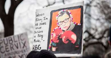 Pancarta de Ruth Bader Ginsburg