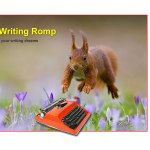 Justina Hart Writing Romp course mascot for blog post writing and traumatic experience