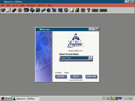 America Online v3.0 America