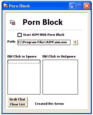 Porn Block AOL AIM Prog