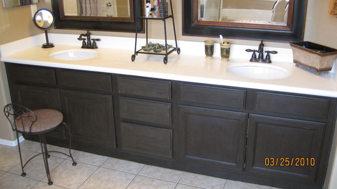 Refinish Bathroom Cabinets