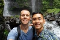 Just us (and our local guide) at Sekumpul Waterfalls