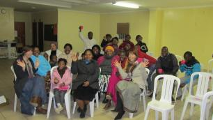 On the last evening of teachings we enjoyed tea and cookies with the faithful members
