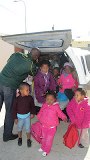 The church receives much of their income from a preschool run on the grounds - they provide transportation for many of the children