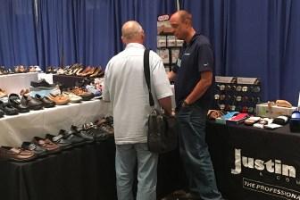 Justin Blair at Northwest Shoe Travelers 2017 Buying Market