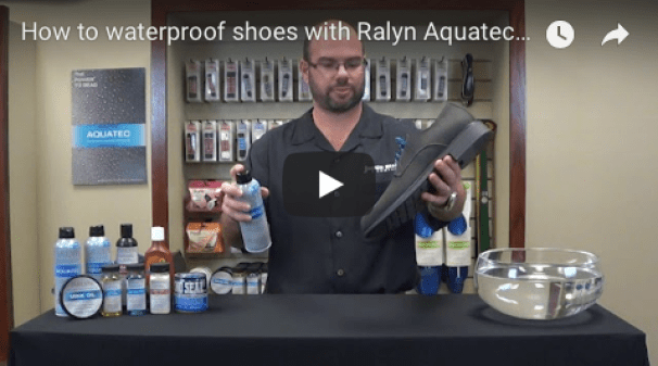 How to waterproof shoes with Aquatec demo video