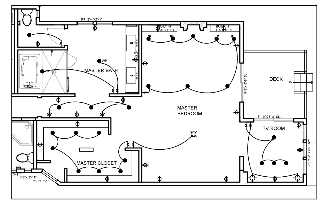 house wiring diagram in autocad
