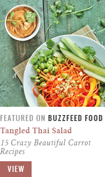 Tangled Thai Salad with Ginger Peanut Sauce | 15 Crazy Beautiful Carrot Recipes @BuzzFeedFood Community Post Recipe Feature // JustineCelina.com