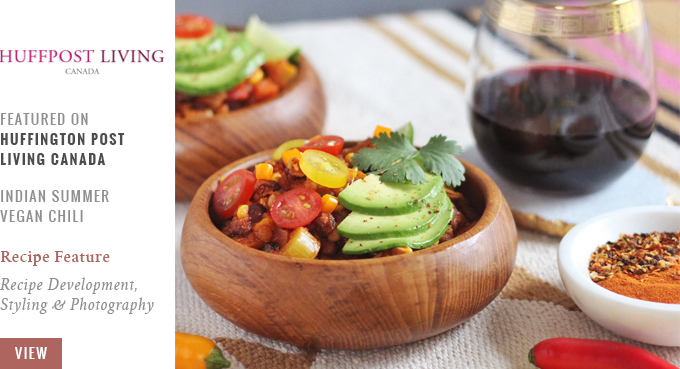 Indian Summer Vegan Chili Featured on Huffington Post Living Canada   20 Squash Recipes to Try This Thanksgiving