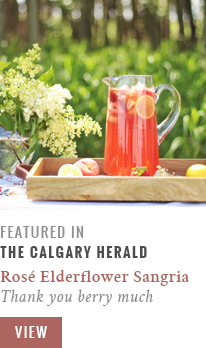 Calgary Gastropost Feature // Rosé Lychee Elderflower Sangria | Thank You Merry Much
