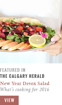 Feature // What's Cooking for 2016 | New Year Detox Salad with Pink Tahini Dressing | Calgary Herald Gastropost // JustineCelina.com