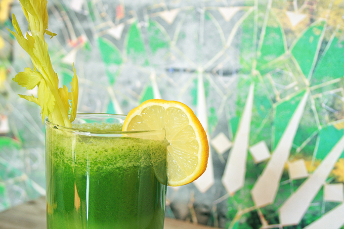 Lean Green Protein Juice // JustineCelina.com
