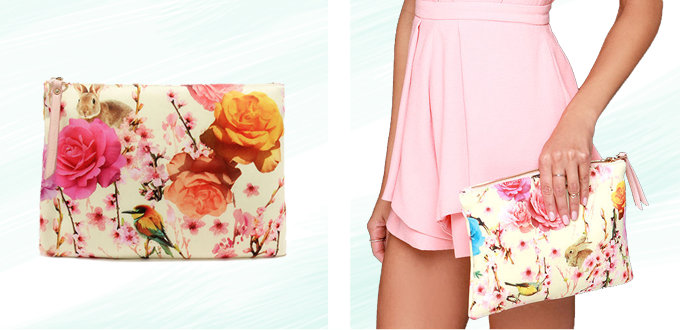 Pattern Obsession | Falling Fleur You Yellow Floral Print Clutch // JustineCelina.com