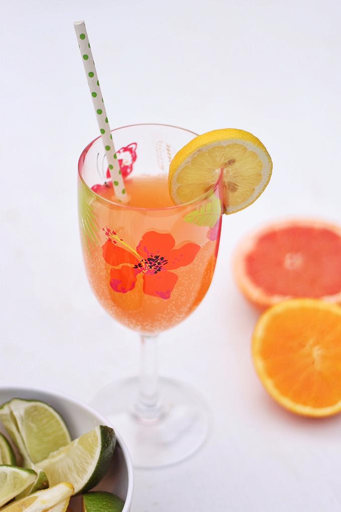 White Citrus Sangria Recipe // JustineCelina.com